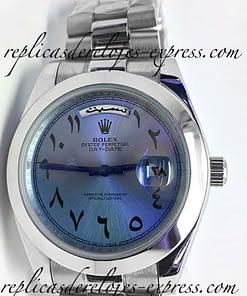 Rolex Daydate 13 (41mm) Azul con números Arabe