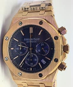 Audemars Piguet Royal oak 12 (41mm) Chronograph esfera azul (Oro)