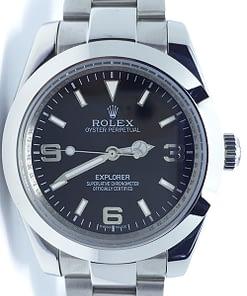 Rolex Explorer 01 214270 (38mm) automático esfera negra.