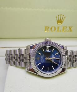 Replica de reloj Rolex Datejust mujer 007 (31mm) Acero, esfera azul,correa jubilee,automatico