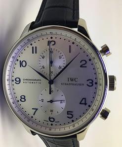 Iwc Portuguese 01 (41mm) chronograph esfera blanca