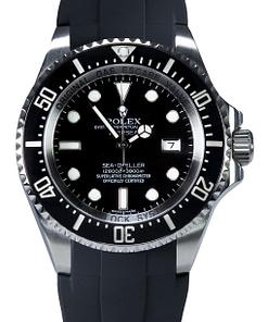 Replica de reloj Rolex Sea Dweller deepsea 04 126660 /caja de acero y correa de caucho negra/Automatico/44mm