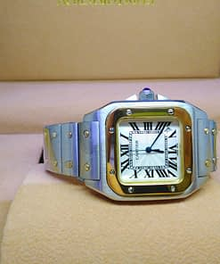 Cartier Santos 100H 02 mujer 38mm Acero y Oro