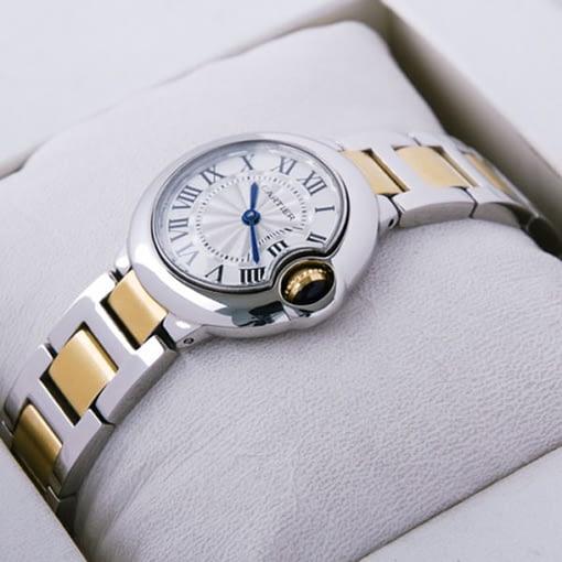 Replica de reloj Cartier Ballon blue 11 mujer W69007z3 (30mm) Acero y oro
