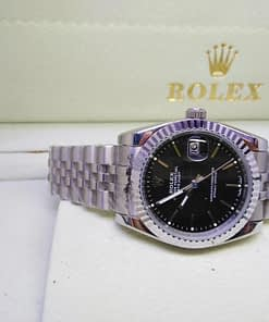 Replica de reloj Rolex Datejust mujer 001 (31mm) esfera negra