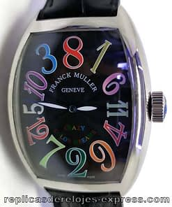 Franck muller Color dreams 02 (crazy hours) esfera negra