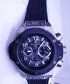 Hublot Big bang Unico 41 (45mm) caja de acero,bisel negro,correa de caucho gra,cronografo