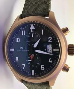 Iwc Pilot's Watch TOP GUN 02 Chronógrafo (44mm) esfera negra/numeros blancos