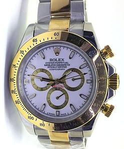 Rolex Daytona 11 (40mm) Automático 116503 blanco Acero/oro, esfera blanca/cosmograph