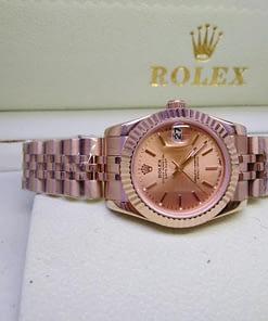 Replica de reloj Rolex Datejust mujer 003 (31mm)Oro/ correa Jubilee/esfera dorada