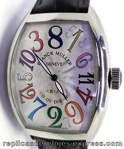 Franck muller color dream 01,crazy hours,esfera blanca