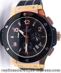 Hublot Bigbang 05 chronograph de correa de caucho negra y bisel negro/301.PB.131.RX