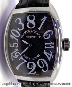 Franck muller color dream 03 (crazy hours) esfera negra,caja de acero