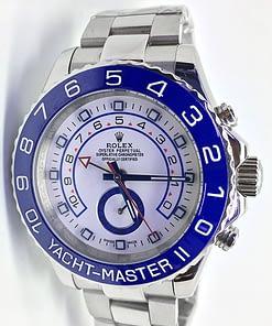 Rolex Yacht master ll 07 116680 (44mm) automático esfera blanca caja de acero