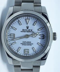 Rolex Explorer 02 214270 (38mm) automático esfera blanca/totalmente de acero