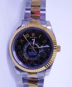 Replica de reloj Rolex Sky-Dweller 04 (42mm) automático acero y oro,oyester,esfera negra,automático,oro