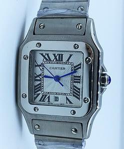 Cartier Santos Galbée 02 mujer 35mm Acero