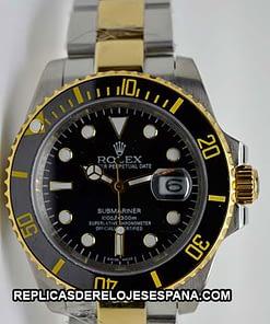 Rolex Submariner 25 (40mm) 116613lN Negro Acero / Oro (acuático) AAA